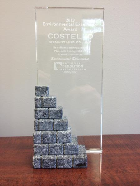 Costello Dismantling receives 2013 NDA Environmental Excellence Award